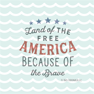 Land Of The Free Svg Because Of The Brave Svg Patriotic 4th Of July