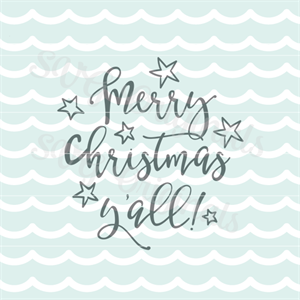 Merry Christmas Y All Southern Christmas Svg Cutting Files